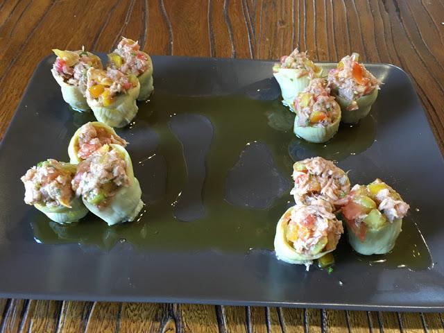 alcachofas rellenas de atún y tomate