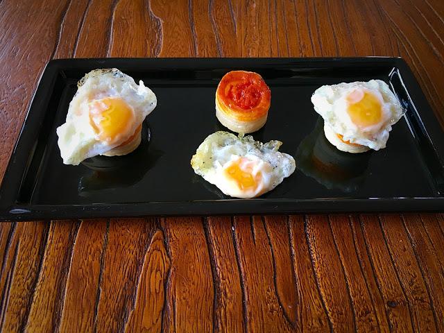 mini volovanes de crema de queso manchego y sobrasada ibérica