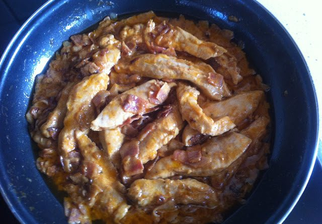 Pechugas de pollo con bacon