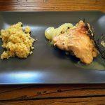 Pollo en salsa con quinoa