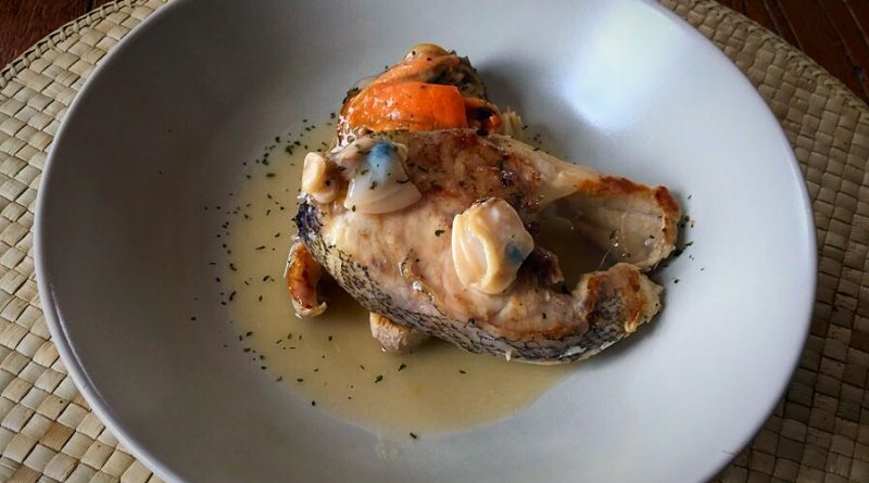 Cherne en salsa de marisco