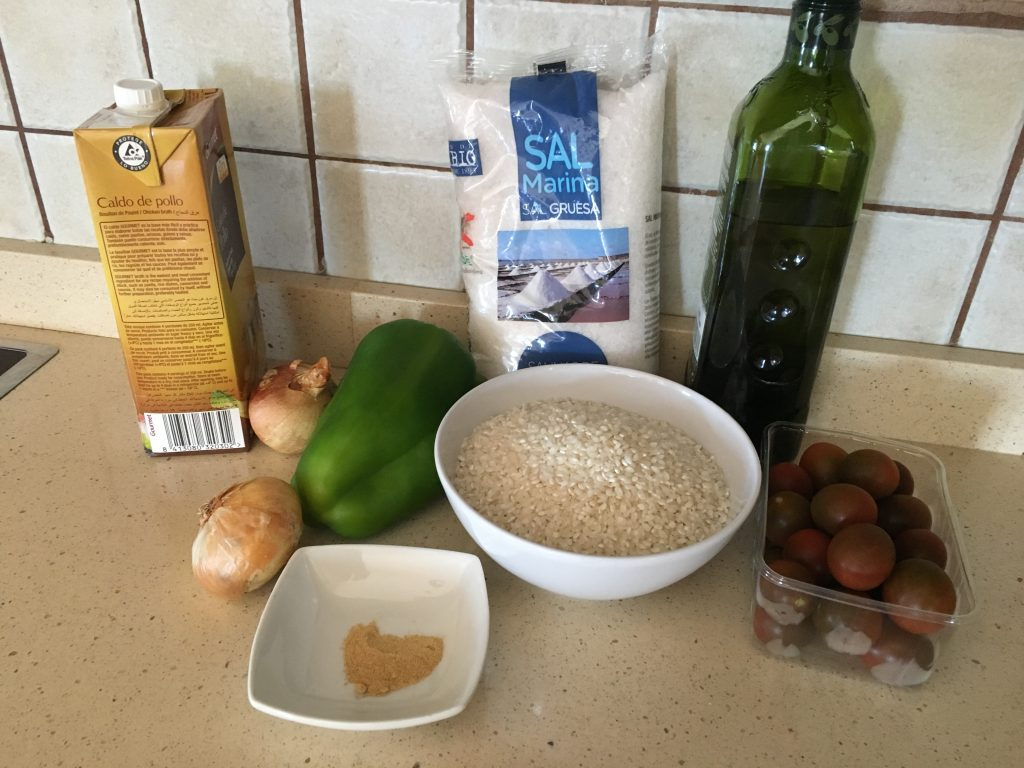 Ingredientes Arroz con pavo al estilo oriental