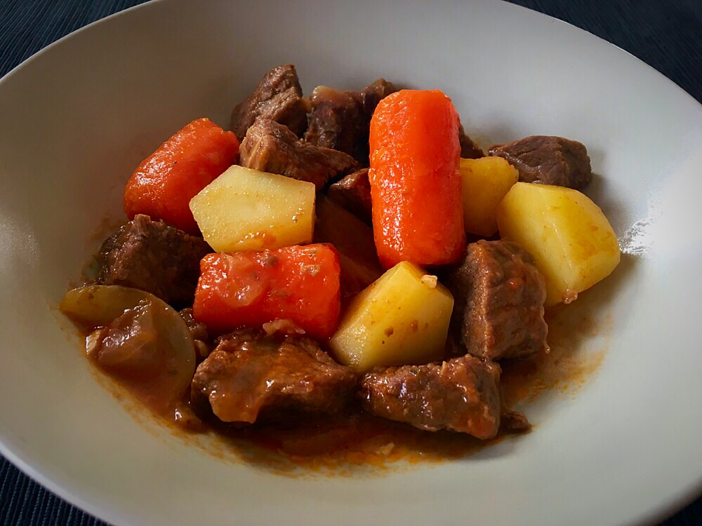 estofado de ternera con zanahorias cocinar para cuatro