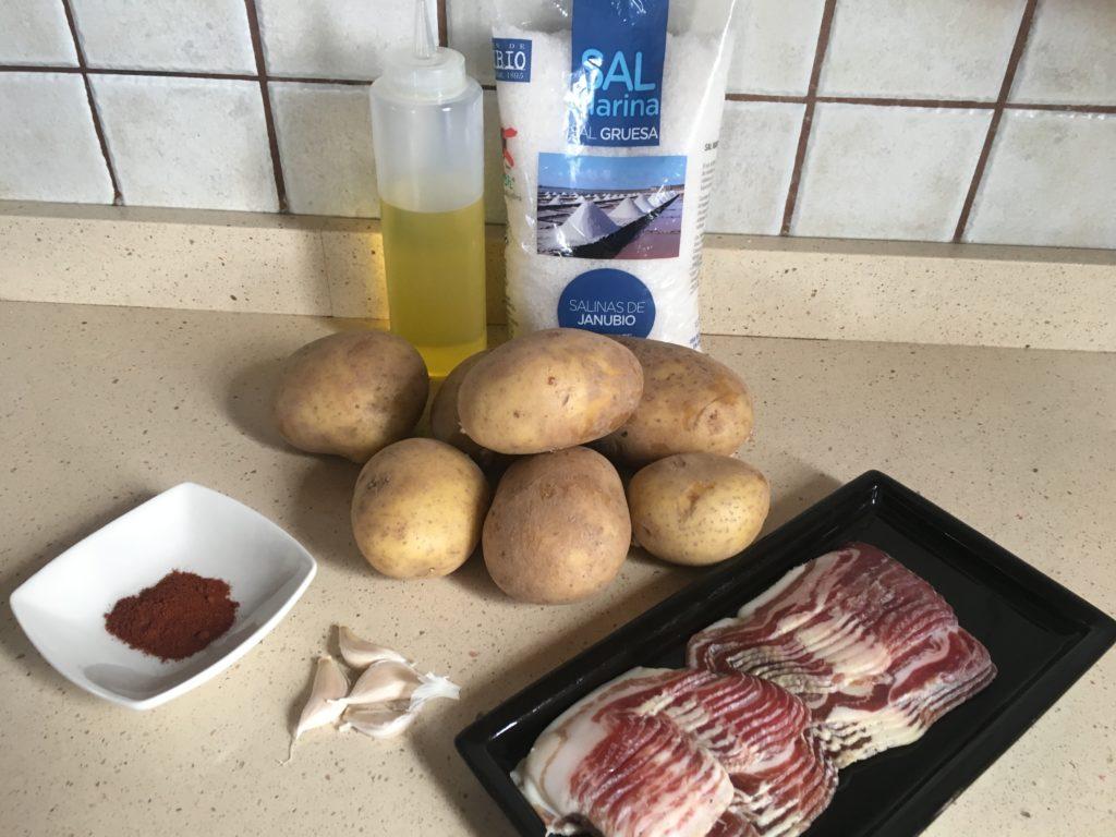 Ingredientes para Patatas revolconas