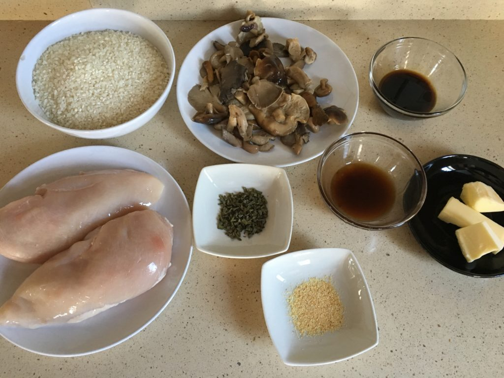 Ingredientes para Cuenco de arroz oriental