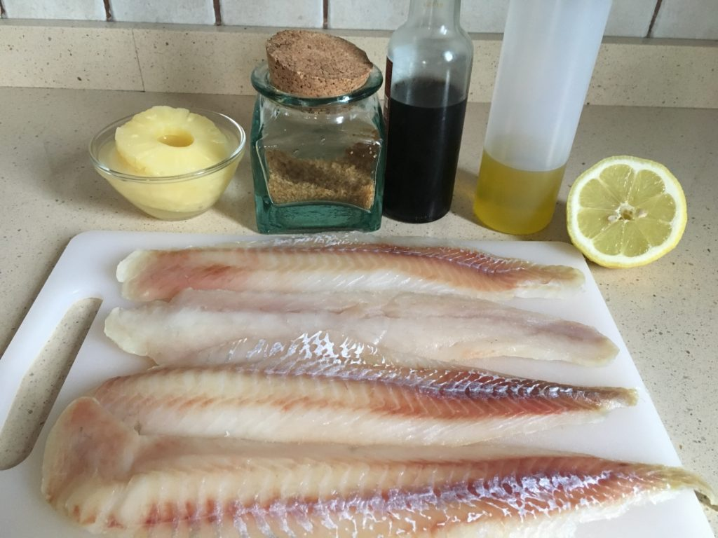 Ingredientes para Filetes de pescado con piña