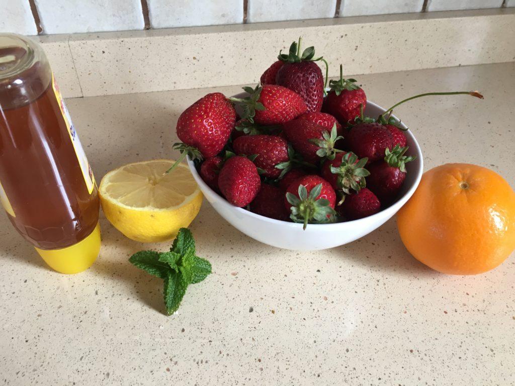 Ingredientes para Fresas aliñadas