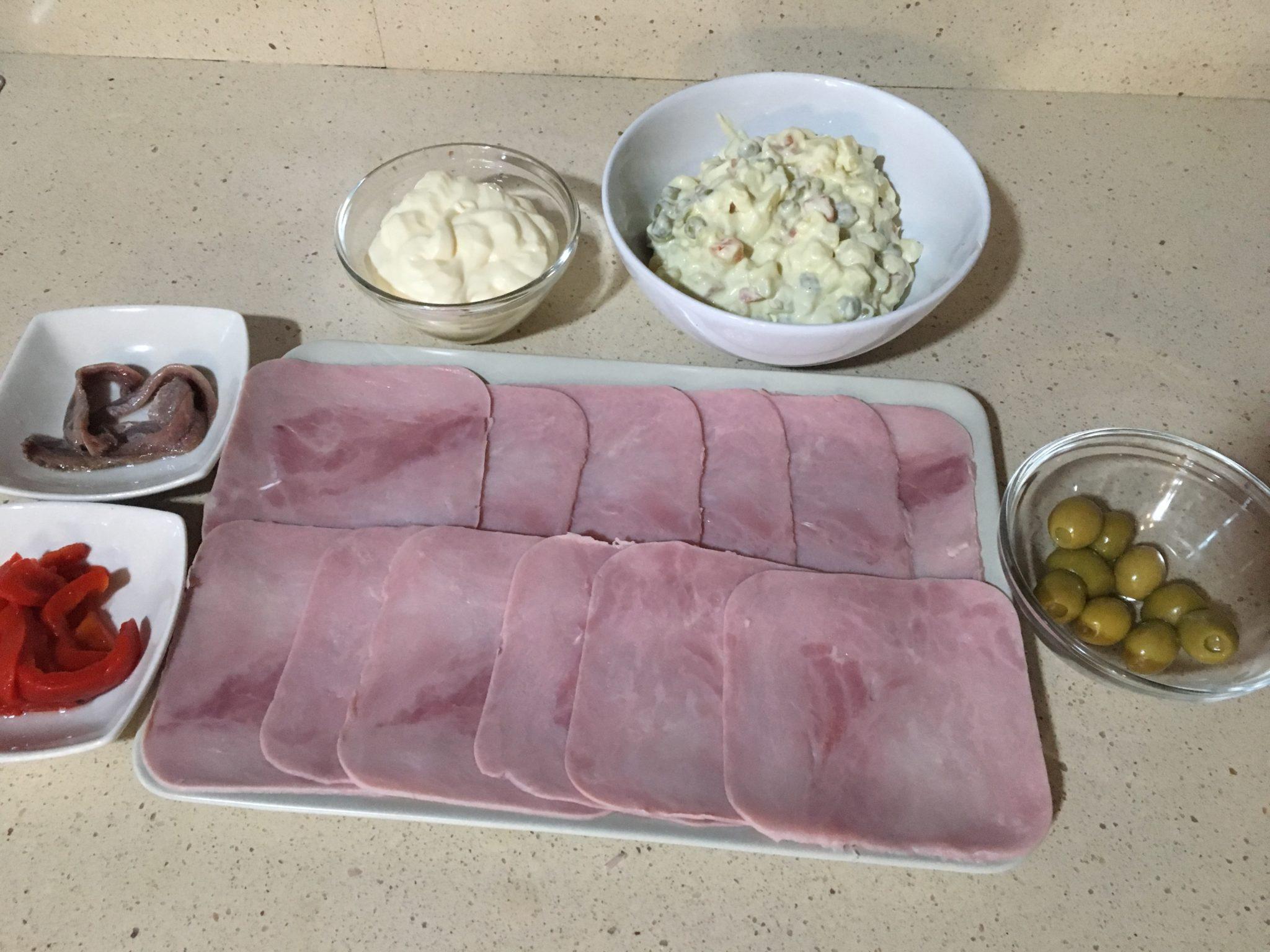 Ingredientes para Canelones de verano exprés