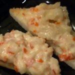Canapés de cangrejo con mayonesa gratinados