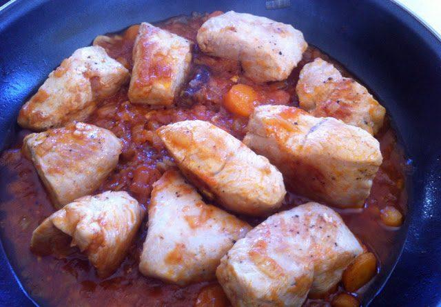 Solomillos de pavo en salsa