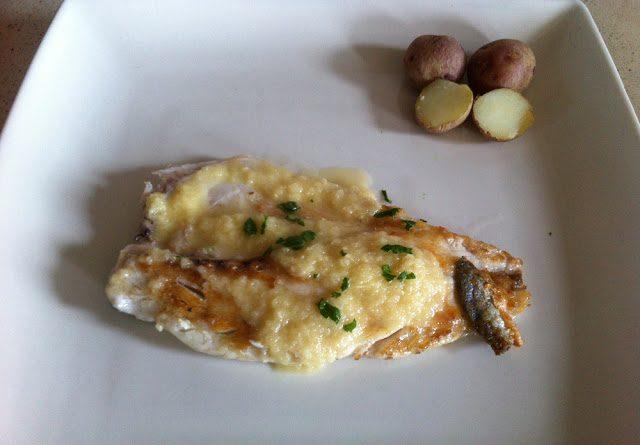 Lubina con salsa de limón y miel