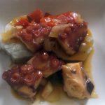 Pulpo guisado con batata