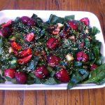 Ensalada de espinacas y fruta
