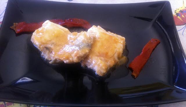 Merluza en salsa de pimientos
