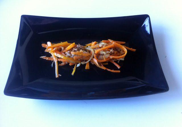 Ensalada de zanahoria y atún