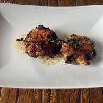 Pollo al horno con mostaza y miel