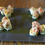 Alcachofas rellenas con atún y tomate