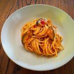 Spaghetti con berenjenas