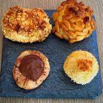 Panellets caseros (de piñones, de almendra, de coco y de chocolate)
