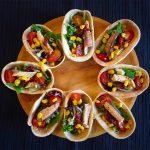 Mini barquitas de ensalada
