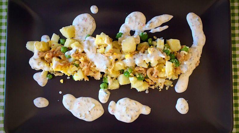 Ensaladilla de pollo con Salsa Tártara