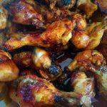 Alitas de pollo con miel, soja y cítricos