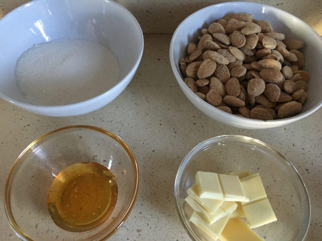 Ingredientes para Turrón blando casero