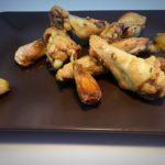 Alitas de pollo a los cien ajos