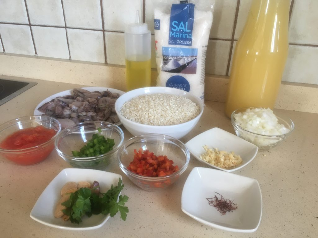 Ingredientes para Arroz con choquitos