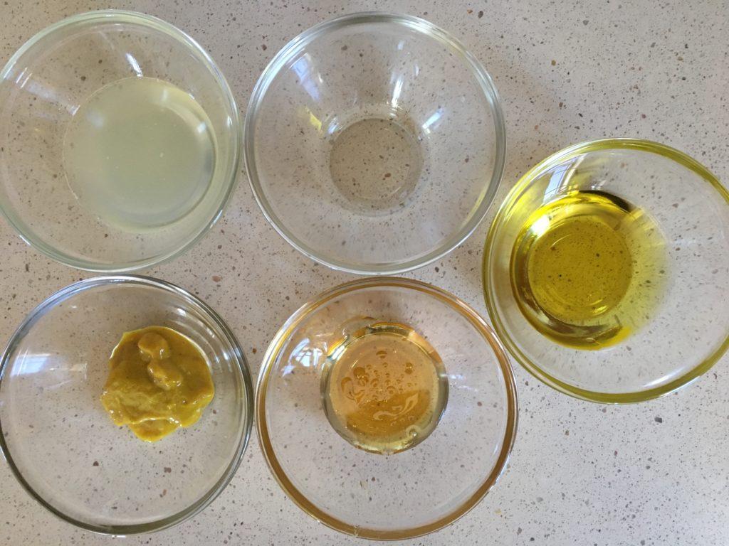 Ingredientes para la Salsa de mostaza y miel