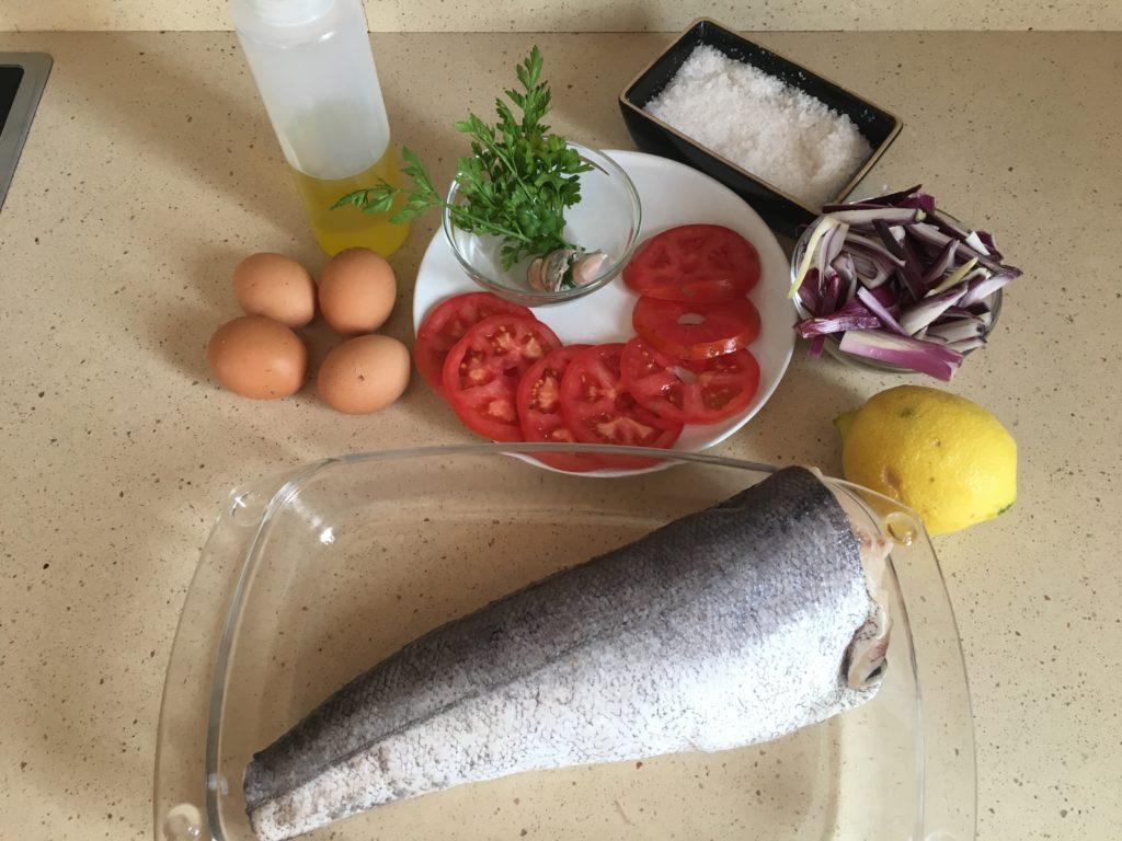 Ingredientes para Merluza al horno con ajo y perejil