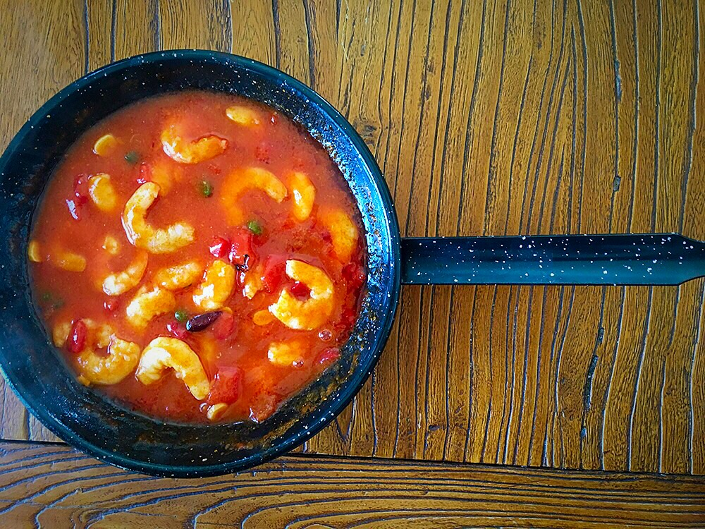 Langostinos en salsa Rigamonti