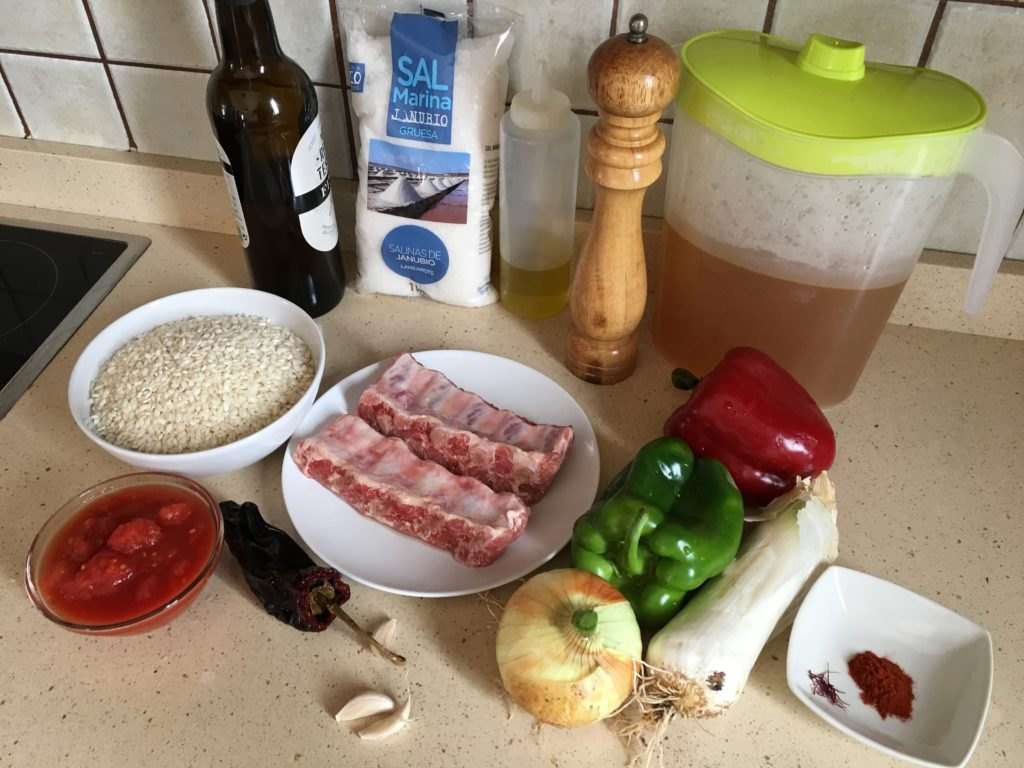 Ingredientes para Arroz con costillas de cerdo