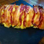 Pastel de pollo, bacon y queso