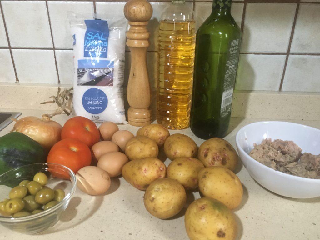 Ingredientes para Ensalada campera