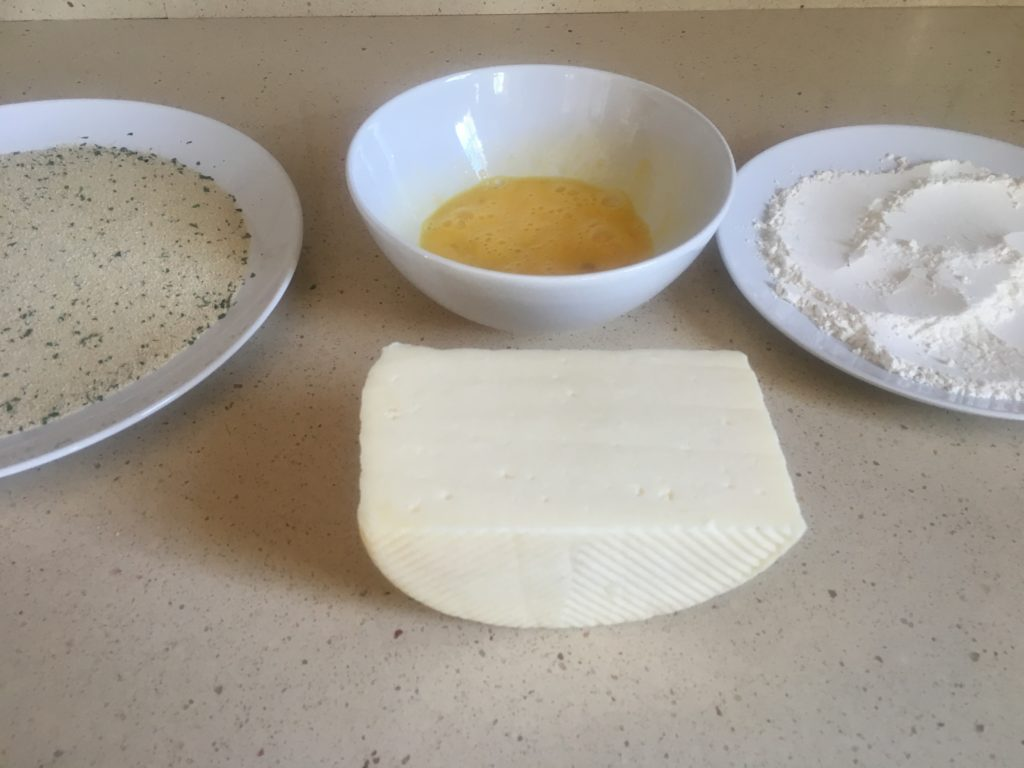 Ingredientes para Queso frito