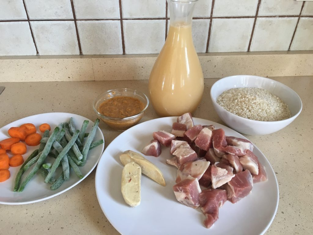 Ingredientes para Arroz con foie, secreto y verduras