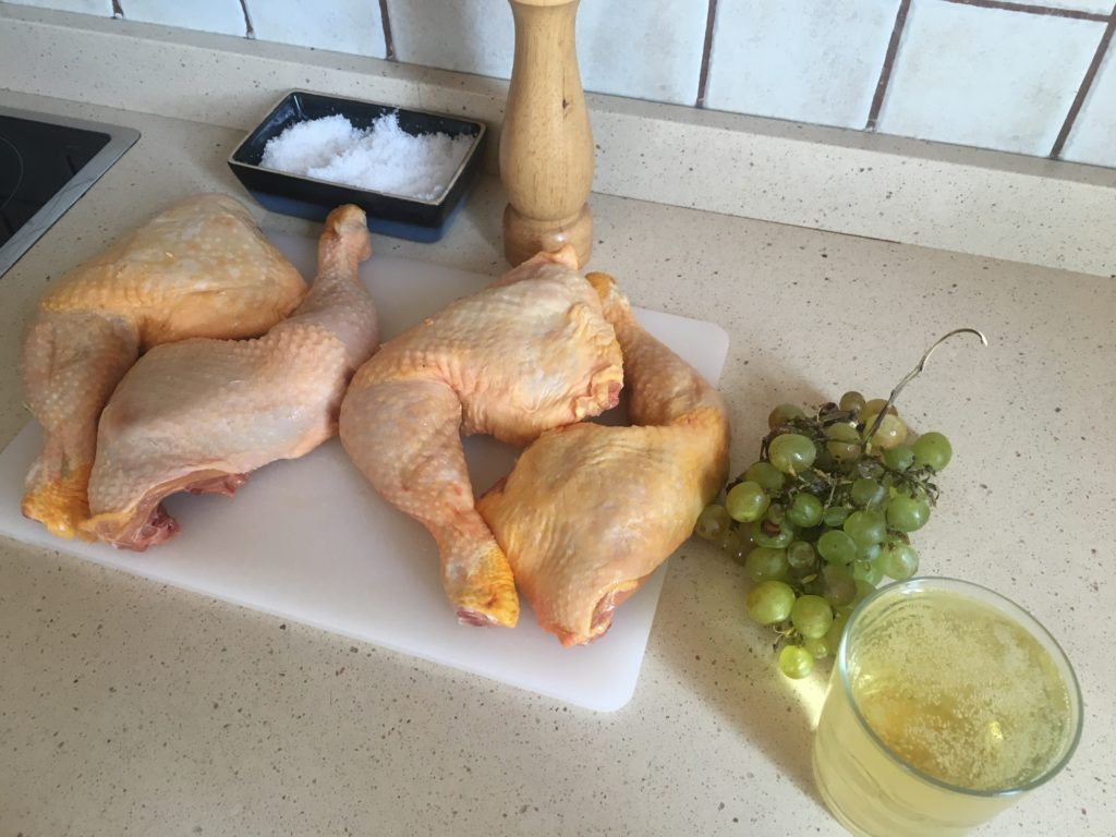 Ingredientes para Pollo al cava