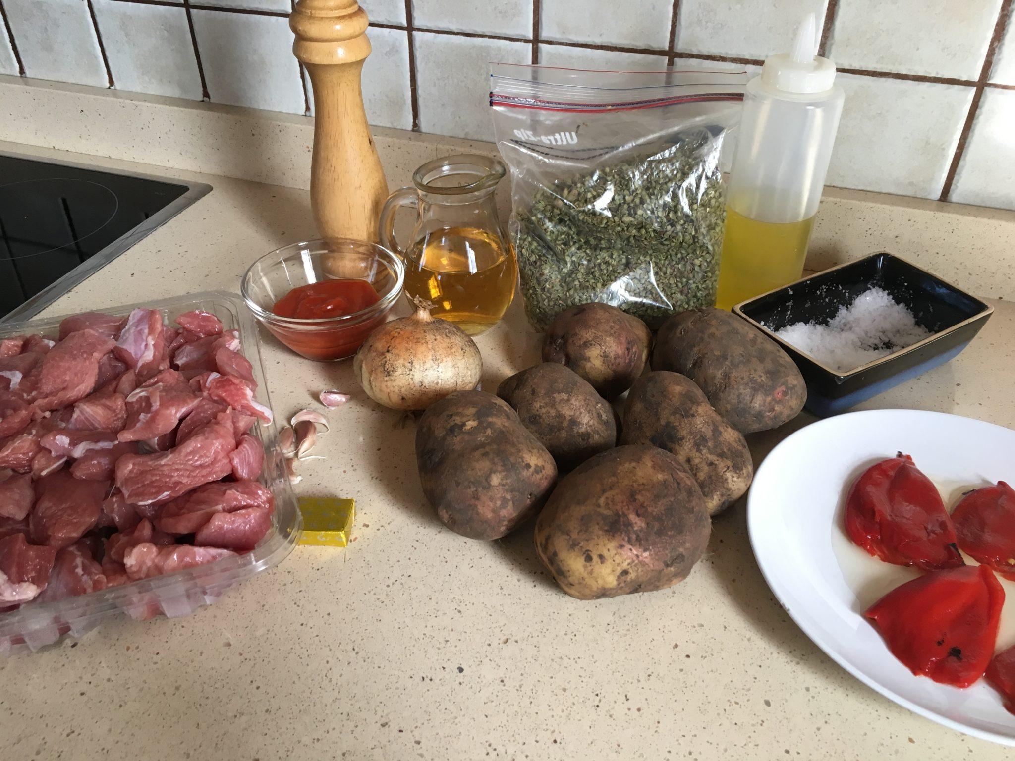 Ingredientes para Pavo estofado