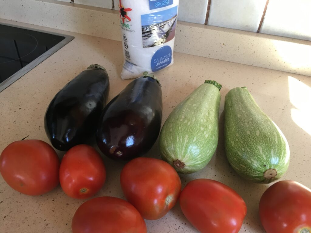 Ingredientes para la Ratatouille