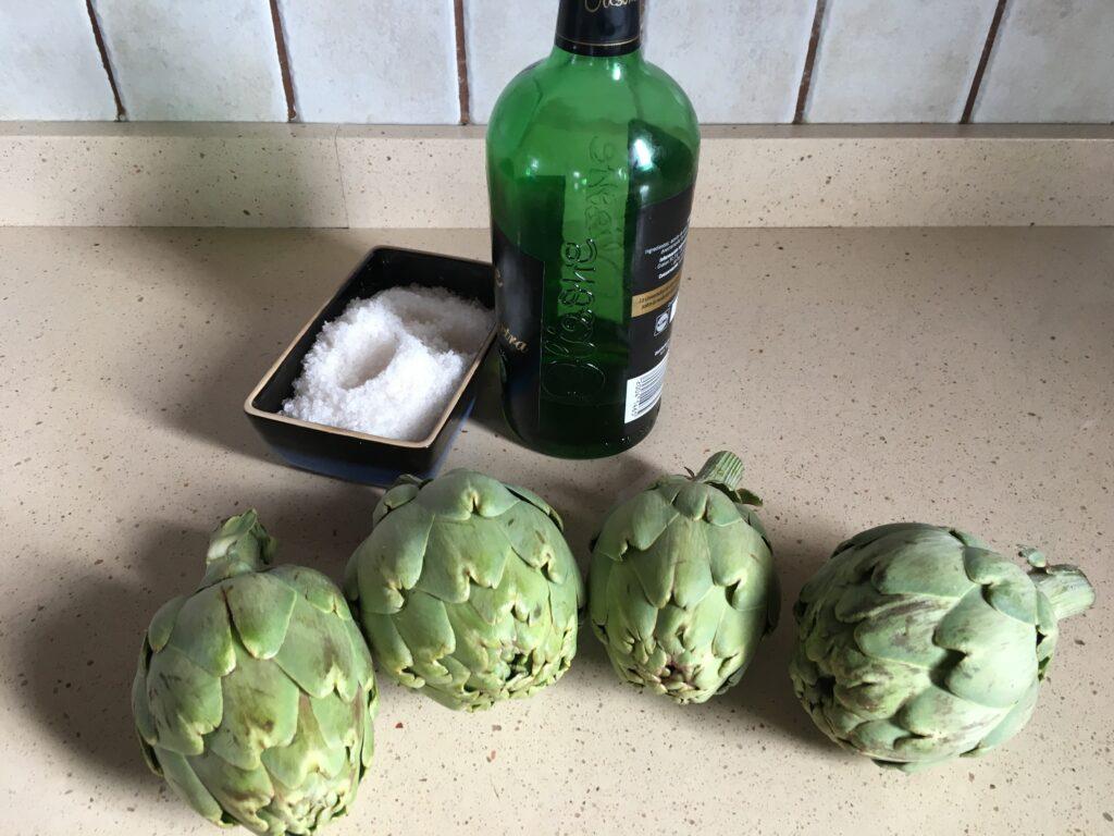 Ingredientes para Alcachofas a la plancha