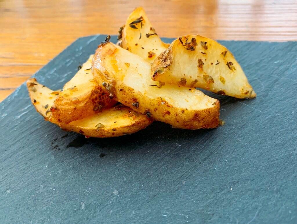 Patatas especiadas al horno