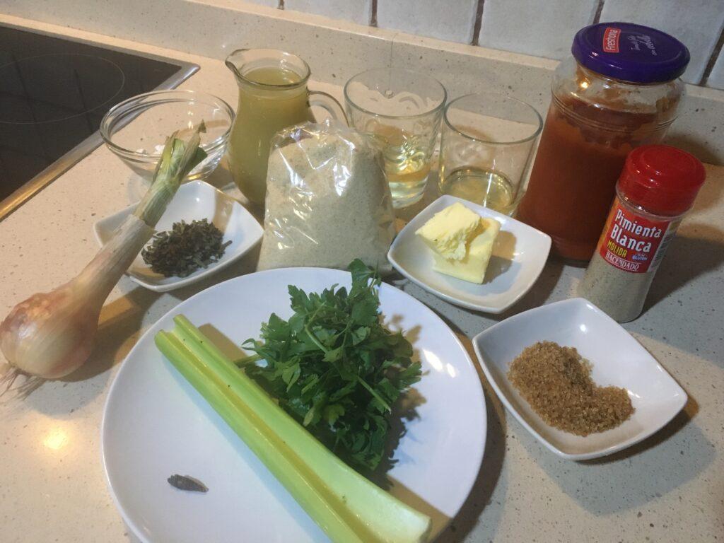 Ingredientes para Salsa Rockefeller