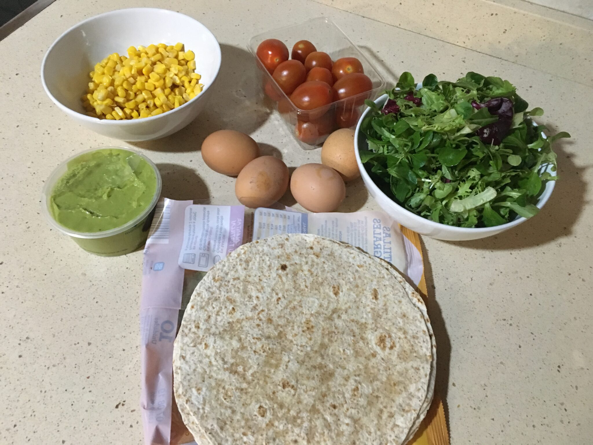 Ingredientes para Wrap Mexiterráneo