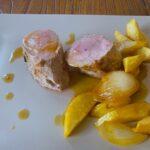Solomillo de cerdo con romero y manzanas