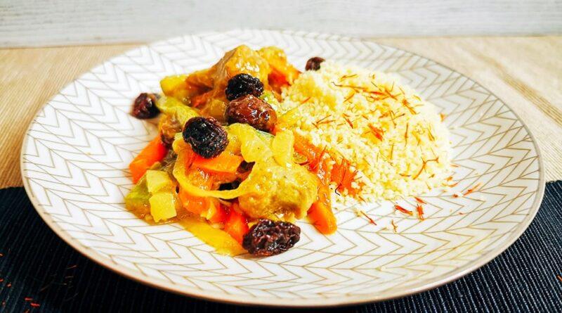 Pavo con verduras y cuscús
