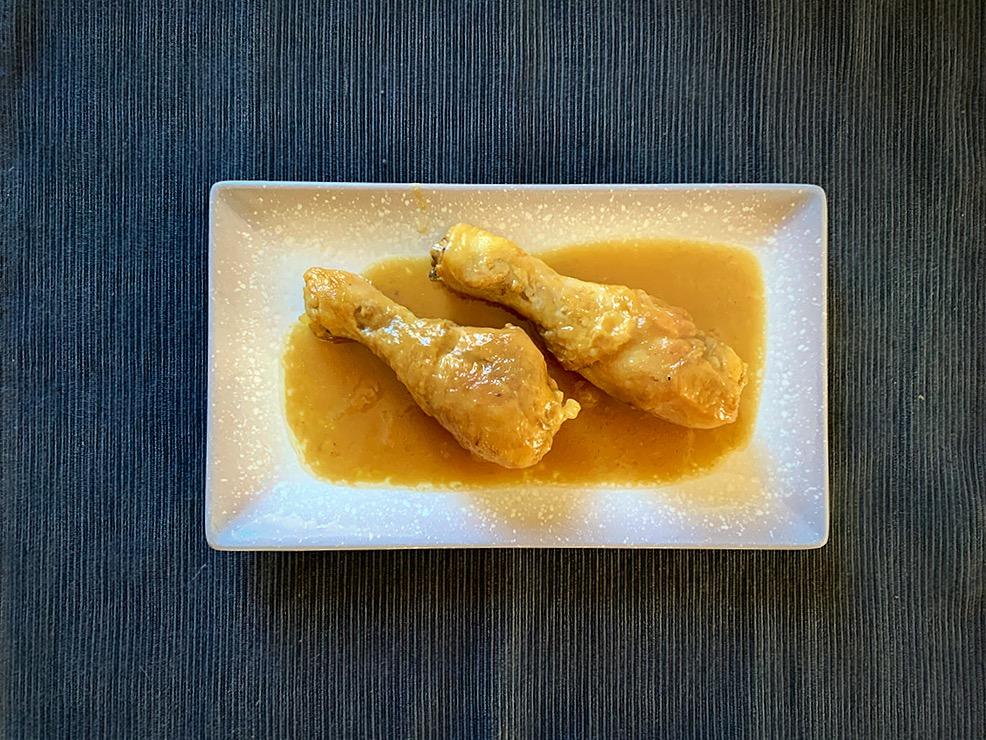 Pollo con cola y soja