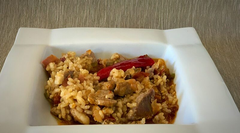 Arroz integral ibérico