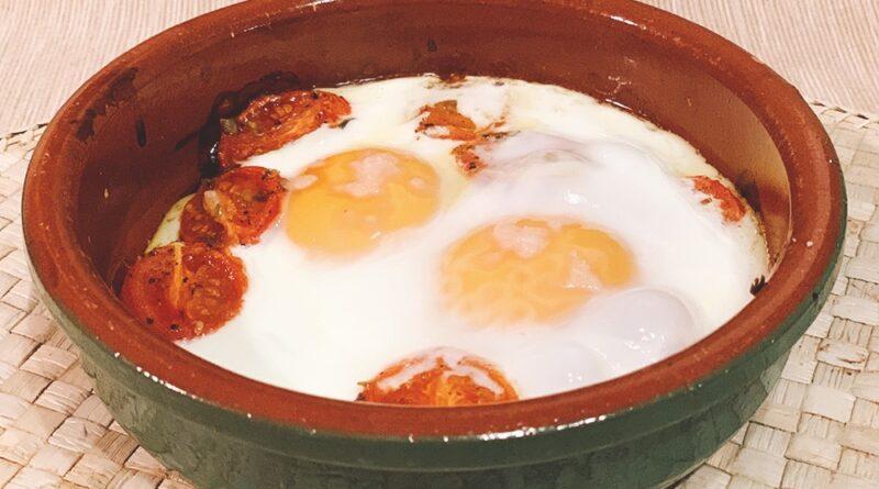 Cherrys con huevos al horno