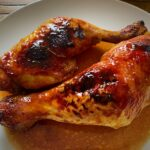 Pollo al horno con tomate, soja y miel